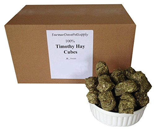 41D4YDDAjmL - FarmerDavePetSupply 10 lb, TIMOTHY HAY MINI CUBES FOR PETS