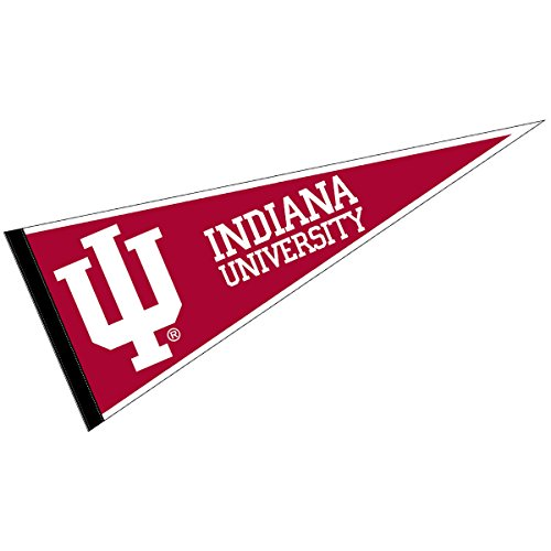 - College Flags and Banners Co. Indiana IU Hoosiers Pennant Full Size Felt