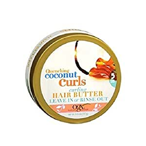 Ogx Coconut Curls Hair Butter 6.6oz Leave-In Or Rinse Out (2 Pack)