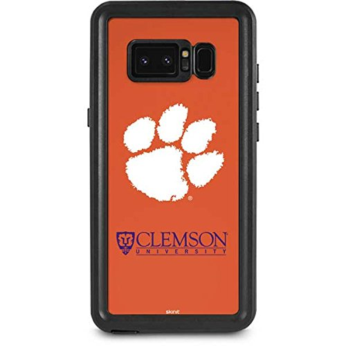 Clemson University Galaxy Note 8 Case - Clemson Paw Mark   Schools X Skinit Waterproof Case Clemson Tigers Note
