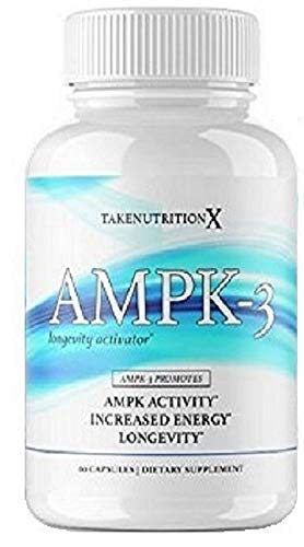 Takenutritionx AMPK Activator Boost energy Promote Longevity,Weight Loss Supports metabolism 60 - Amp Pk