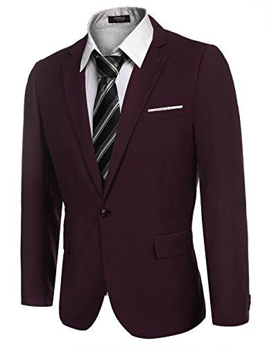 Hasuit Men's Casual One Button Slim Fit Stylish Blazer Coats Jackets Dress Suit by Hasuit (Image #2)