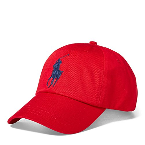 Galleon - RALPH LAUREN Polo Cotton Chino Baseball Cap Adjustable Leather  Strap One Size a7c444797eb6