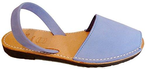 Authentische Menorcan Sandalen, avarcas menorquinas verschiedene Farben abarcas Azul cielo nobuck