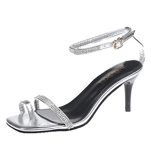 Logoed Mens Belt Buckle - Yellsong Sandals,Women's Fashion Stilettos Open Toe Pump Heel Sandals Belt Buckle Dress Sandals Work Women Shoes Silver