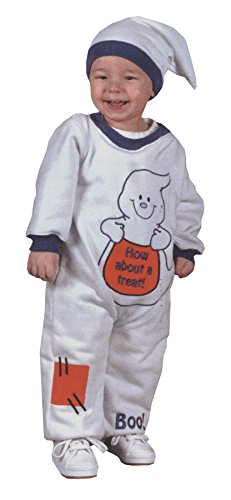[UHC Baby's Spooky Ghost Jumpsuit Infant Child Fancy Dress Halloween Costume, 6-12M] (Ghost Baby Halloween Costume)