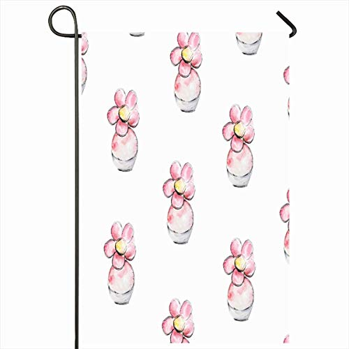 - Ahawoso Garden Flag 12x18 Inches Spray Watercolor Aromatherapy Pink Flower Perfume Floral Plastic Fragrance Aroma Aromatic Bottle Outdoor Decorative Seasonal Double Sided Home House Yard Sign