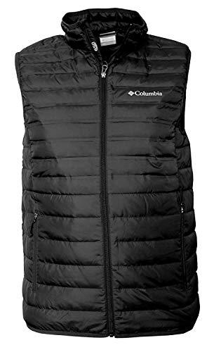 Columbia Men's MoKay Lake Lightweight Down Vest, Black , Large