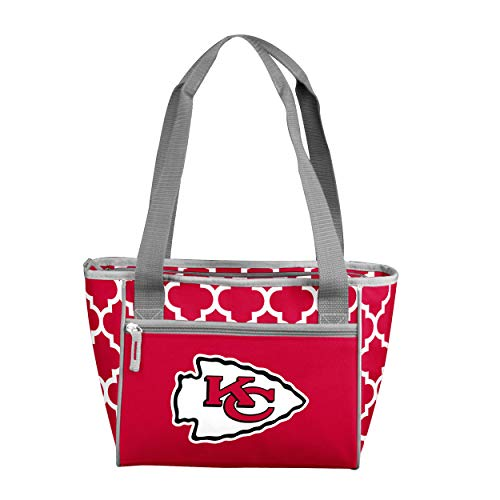Logo Brands NFL Kansas City Chiefs 16 Cooler Can Tote, Red, One -