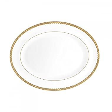 WATERFORD Lismore Lace Gold Platter 15.5
