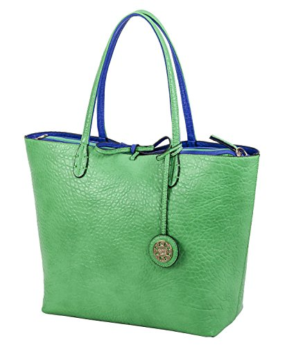 Sydney Love Emerald and Cobalt Reversible Tote