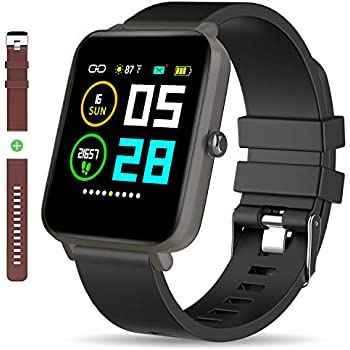 Amazon.com: GPS Running Smart Watch, IP68 Waterproof Fitness ...
