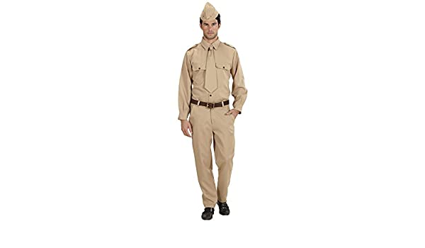 WIDMANN WW2 Soldado Disfraz Pequeño de Ejército Militar Guerra del ...