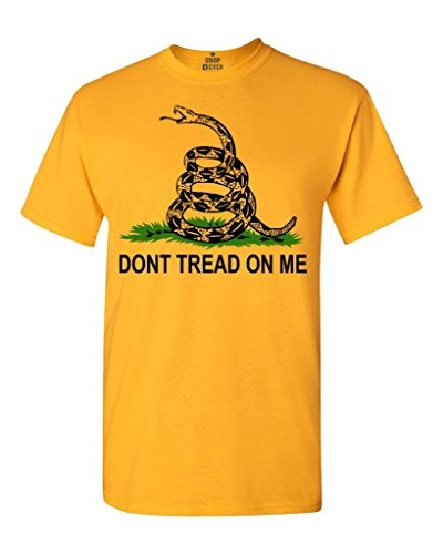 Don't Tread On Me T-shirt Gadsden Flag Shirts #13624 X-Large Gold