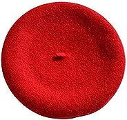 Wool Beret Hat For Women Gril, French Artist Warm Beanie Hat Winter Ski Lightweight Casual Cap