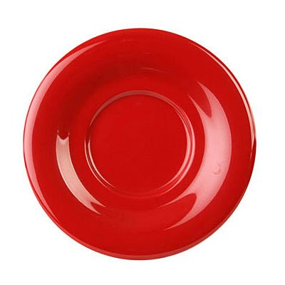 Pure Red Melamine 5 1/2'' Saucer For Cr550/303 [Box of 12]
