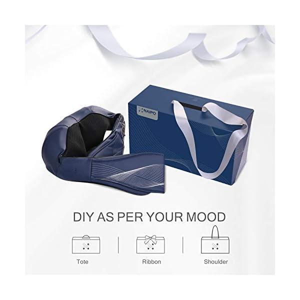 Naipo Collo Massaggiatore per Cervicale Schiena Spalle Muscoli Elettrico Shiatsu Massaggio con Calore Funzione Rotazione… 4 spesavip