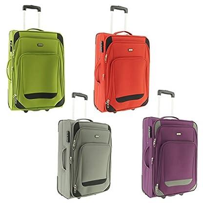 41D4cy4zq6L. SS416  - Maletín de plástico Airport Color Verde Tamaño L Plástico Viaje Maleta Case FA. bowatex