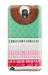 Snap-on Case Designed For Galaxy Note 3- Mid-century Modern Girl8217s Nursery