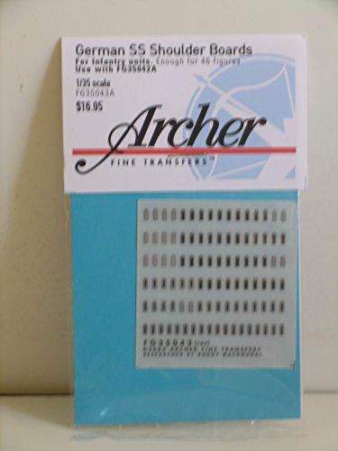 Archer Fine Transfers----1/35 Scale German WW II SS Shoulder Boards for Infantry - Unit Archer