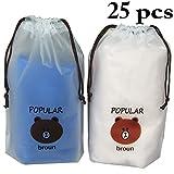 Justdolife 25PCS Drawstring Pouch Portable Reusable Storage Bag for Clothes