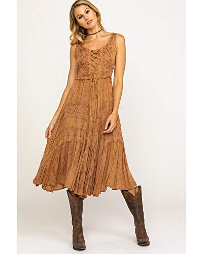 Scully Women's Lace-Up Jacquard Dress Beige XX-Large