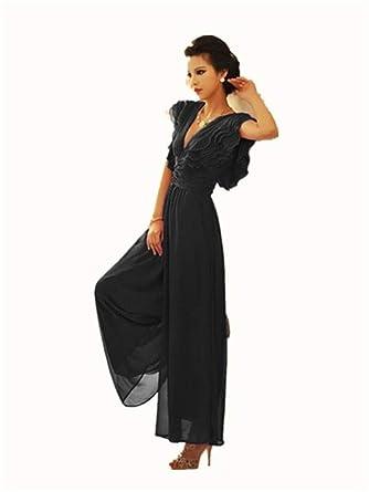 cd42e3908bde7 ダンス衣装 ワンピース 結婚式 服装 セクシー レディース シフォン オールインワン ワイドパンツ 大人 上品 パンツドレス