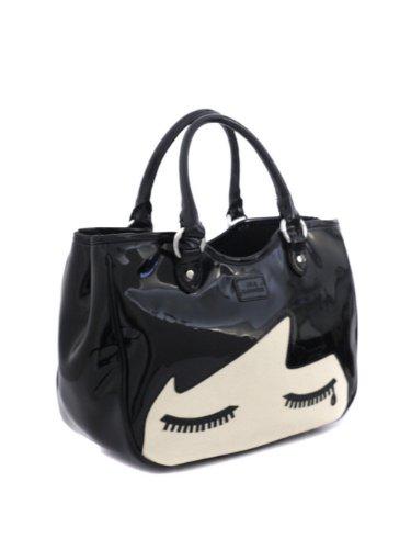680cd5af248 Lulu Guinness Wanda Doll Face Black Bag OS  Amazon.co.uk  Shoes   Bags