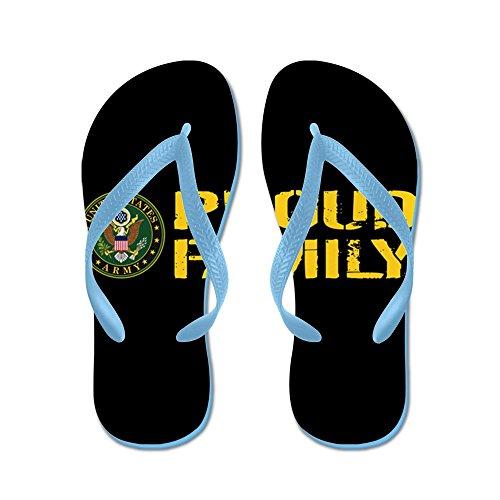 CafePress U.S. Army: Proud Family (Black & Gold) - Flip Flops, Funny Thong Sandals, Beach Sandals Caribbean Blue