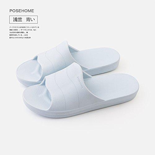 morbido plastica pantofole fankou anti donne 39 pantofole soggiorno bagno bagno coppie uomini home estate raffreddare fondo blu slittamento in indoor xrw5awp8Wq