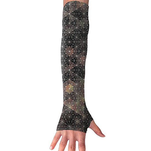 Nauty Imp Unisex Psychedelic Geometry Abstract Outdoor Sports Arm Protector Barcer UV Protection Sun Protection by Nauty Imp