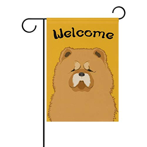 My Daily Welcome Chow Chow Dog Decorative Double Sided Garden Flag 12 x 18 inch ()