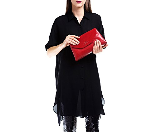 WITTCHEN Borsa classica, Rosso - Dimensione: 14x28cm - Materiale: Pelle di grano -Accomoda A4: No - 35-4-043-3