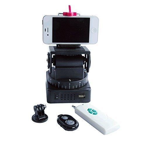 ZUMA PHOTO.VIDEO Z-800 Motorized Panorama Swivel/Tilt Base Unit for Cameras, Smartphones, & GoPro Cameras, Black by ZUMA PHOTO.VIDEO