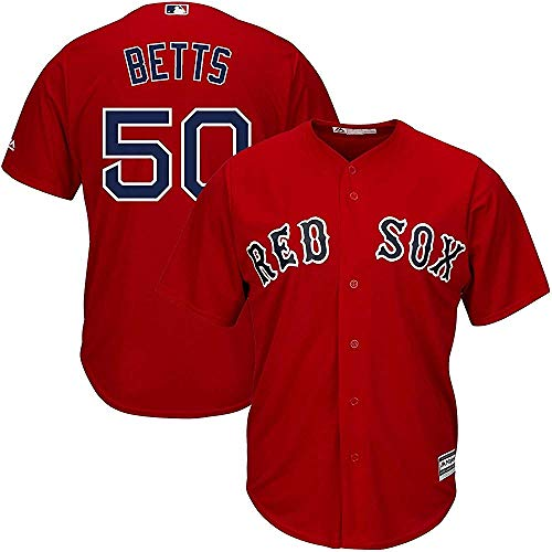 Majestic Mookie Betts Boston Red Sox MLB Youth Red Alternate Cool Base Replica Jersey (Youth Large 14-16)