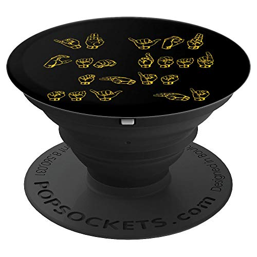ASL American Sign Language Gift Interpreters - PopSockets Grip and Stand for Phones and Tablets]()