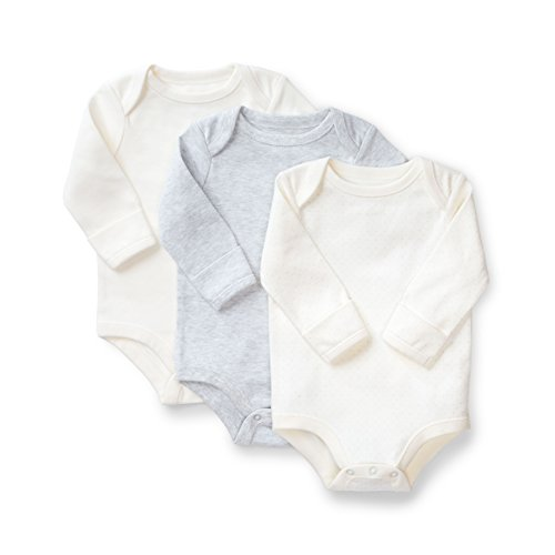 4bf189c53be9 Hope   Henry Layette 3-Pack Bodysuits Made With Organic Cotton Size ...