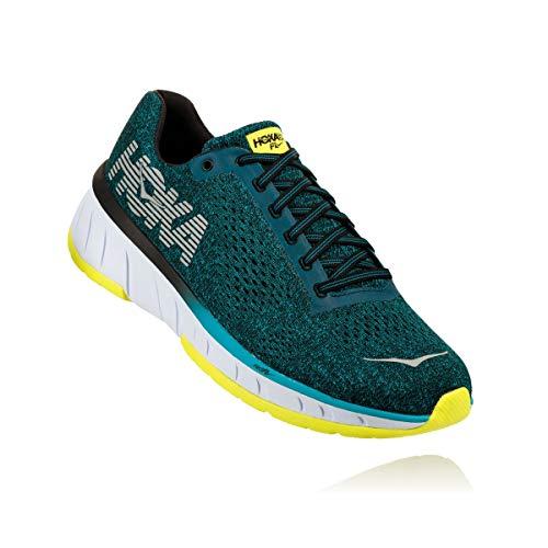 Hoka One Men's Cavu Caribbean Sea/Black Ankle-High Mesh Running Shoe - ()