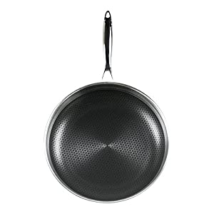 Frieling USA Black Cube Hybrid Stainless/Nonstick Cookware Fry Pan