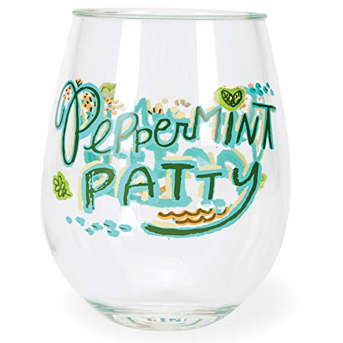 (C.R. Gibson ''Peppermint Patty'' Acrylic Stemless Wine Glass, 12 oz)
