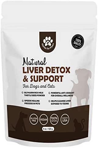 Liver Support for Dogs, Milk Thistle for Dogs and Cats, Supplement Without Capsules, Pills - 4oz Bag