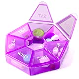 7-Sided Portable Pill Box Medicine Planner Small