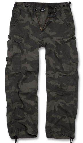 Brandit M-65 Vintage Pantalones Negro Darkcamo