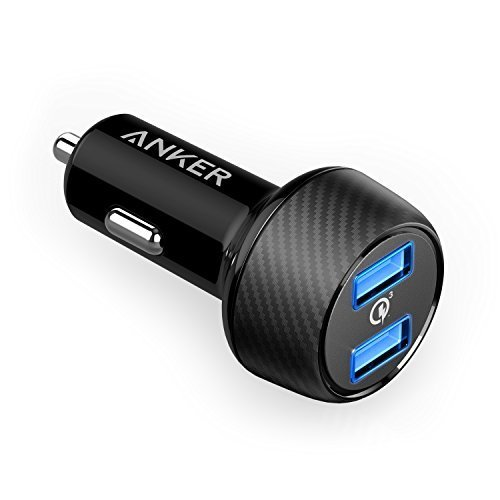 (Anker 39W Dual USB Car Charger with Quick Charge 3.0, PowerDrive Speed 2 for Galaxy S7/S6/Edge/Plus, PowerIQ for iPhone X/8/7/6s/Plus, iPad Pro/Air 2/mini, LG, Nexus, HTC and More)