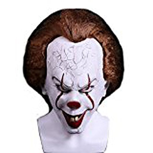 Yangxiao Halloween Hot Sale Clown Cosplay Costume 2017 Movie Uniform (One Size, Mask) (Pennywise Mask For Sale)