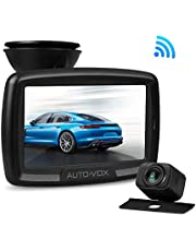 """AUTO-VOX CS-2 Telecamera Retromarcia Wireless Digitale, Impermeabile IP68, Visione Notturna, Monitor da 4.3"""", Trasmettitore Integrato"""