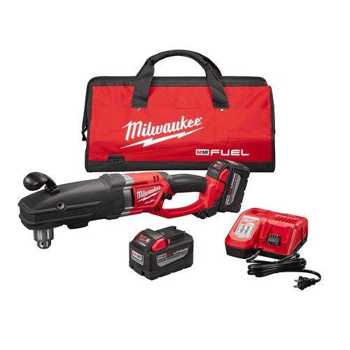 Milwaukee 270922HD M18 FUEL SUPER HAWG 1/2 in. Right Angle Drill Kit -  2709-22HD