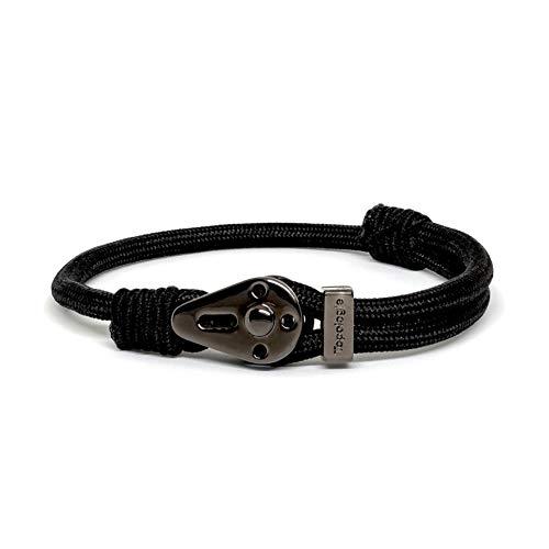 Topologie Bracelets Yosemite Chrome Black Black Solid 5mm ()