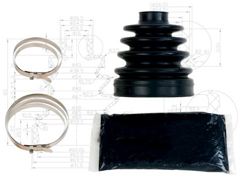 All Balls 02-05 Polaris SPORTS500H CV Boot Kit (Front Outer)