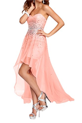 Ivydressing Promkleid Lo Festkleid Damen Abendkleider Wassermelone Hi Chiffon Herz Steine Ausschnitt r8rOx